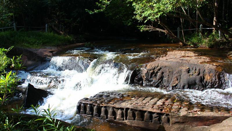 Images carved in the riverbed at Kbal Spean