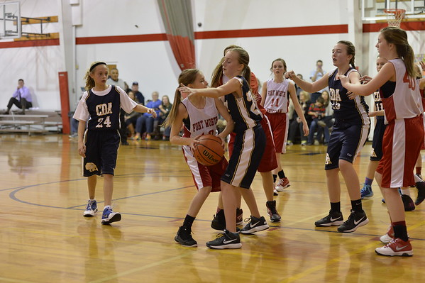 Basketball Girls 7th B  1-22-2015