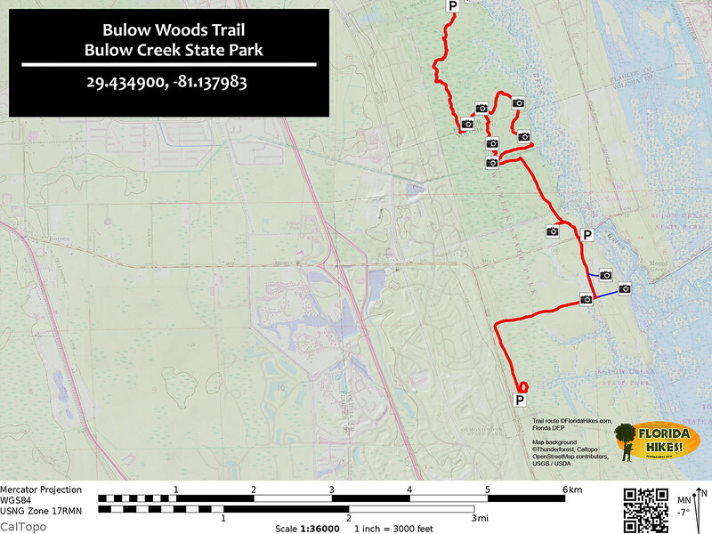 Bulow Woods Trail Map