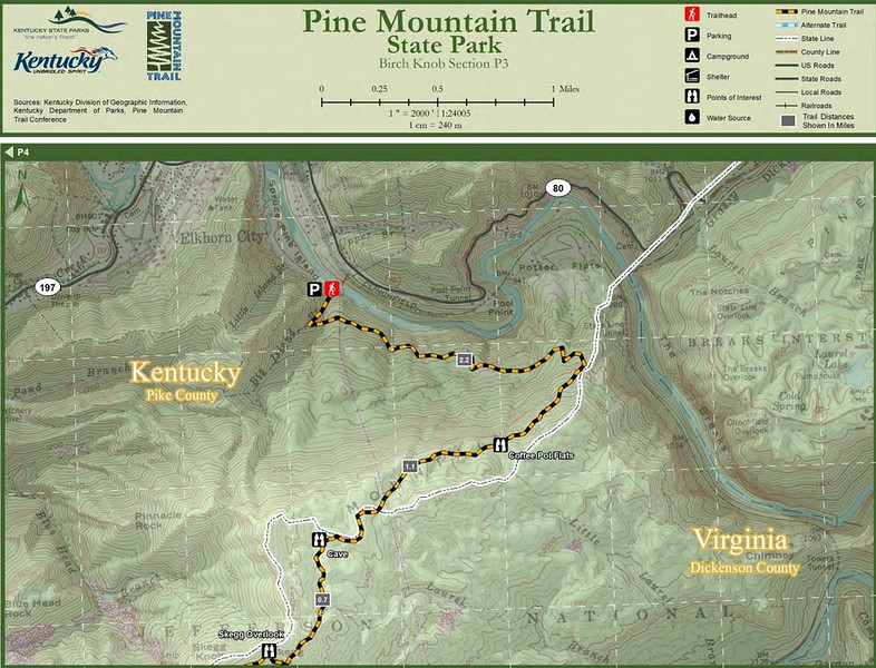 Pine Mountain State Scenic Trail -- Birch Knob Section (P3)