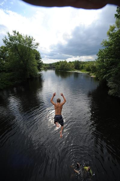 family boys kids kevin river jumping nezinscott