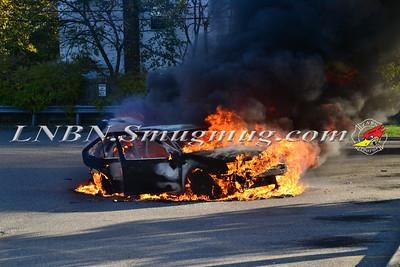 Wantagh F.D. Car Fire 2811 N. Jerusalem Road 10-27-14
