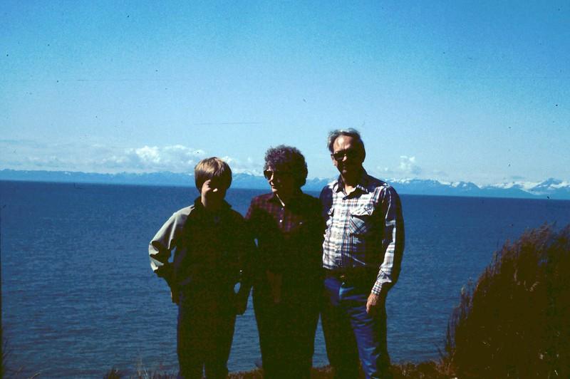 Russ, Bonnie & Wayne Eldredge, Captain Cook State Park, AK, 08-01-1983,  .jpg