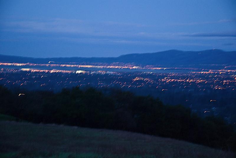 Bay Area Lights at Dusk, from Rancho San Antonio
