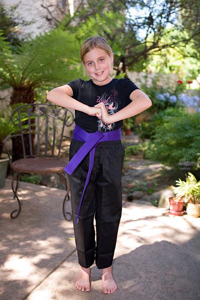 Elena's Purple Belt