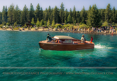 The End of the Line gets underway in the parade of boats at the 2011 Tahoe Concours D'Elegance
