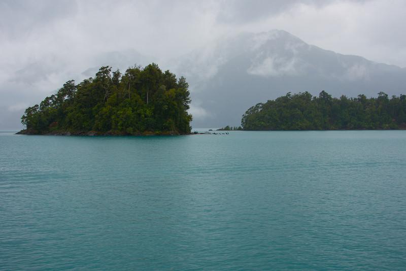 Islands in Lake Todos los Santos, Patagonia, Chile