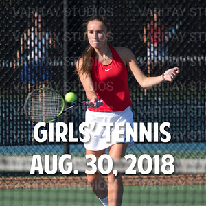 Prairie Girls Tennis, Aug. 30, 2018