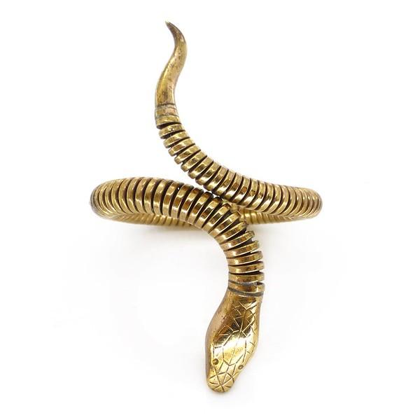 VINTAGE ART DECO ROLLED GOLD ARTICULATED SNAKE RING