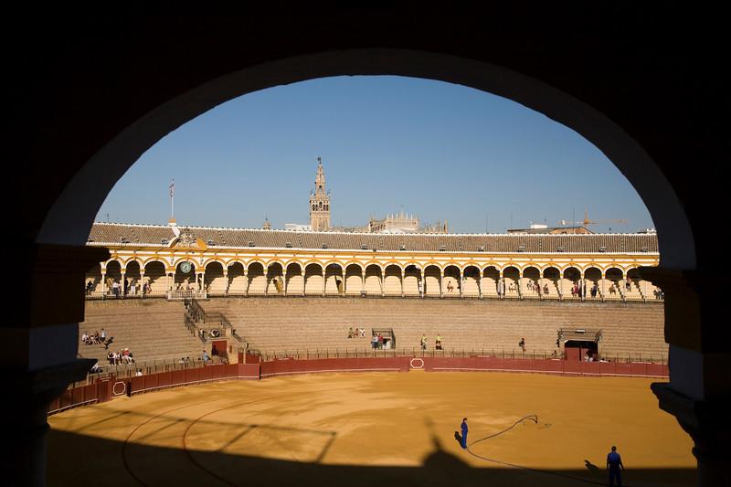 Real Maestranza de Caballería Bullring (the Giralda Tower on the background).