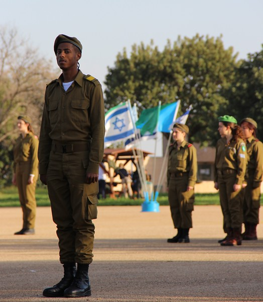 IDF soldier at attention