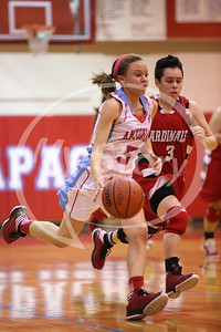 Antonian Apache Girl Basketball Action