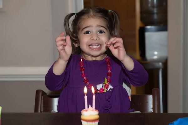 Moneli's 2nd birthday with Family