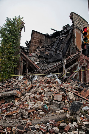 Detroit old building collapse car into building 60 days