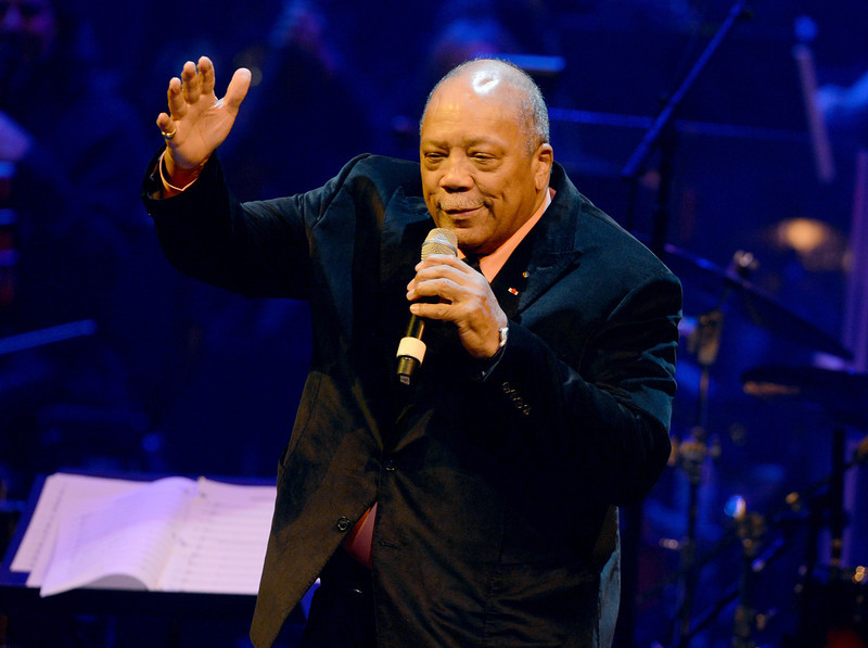 . Quincy Jones attends a celebration of Carole King and her music to benefit Paul Newman\'s The Painted Turtle Camp at the Dolby Theatre on December 4, 2012 in Hollywood, California.  (Photo by Michael Buckner/Getty Images for The Painted Turtle Camp)