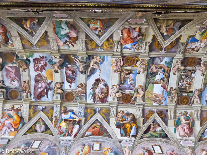 And finally ... the Sistine Chapel. This is a ceiling shot http://en.wikipedia.org/wiki/Sistine_Chapel