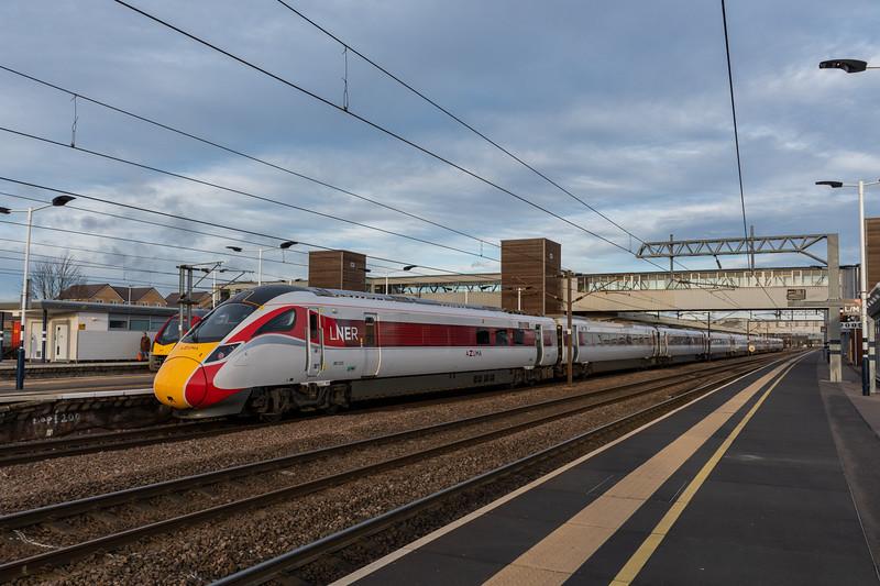 801213, LNER Azuma at Peterborough
