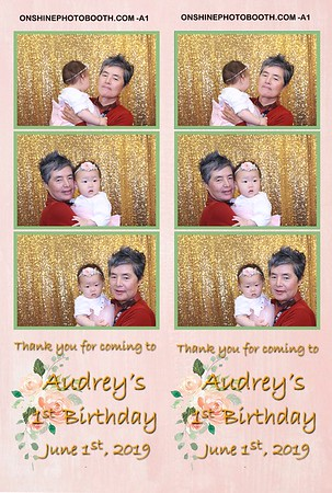 Audrey's 1st  Birthday