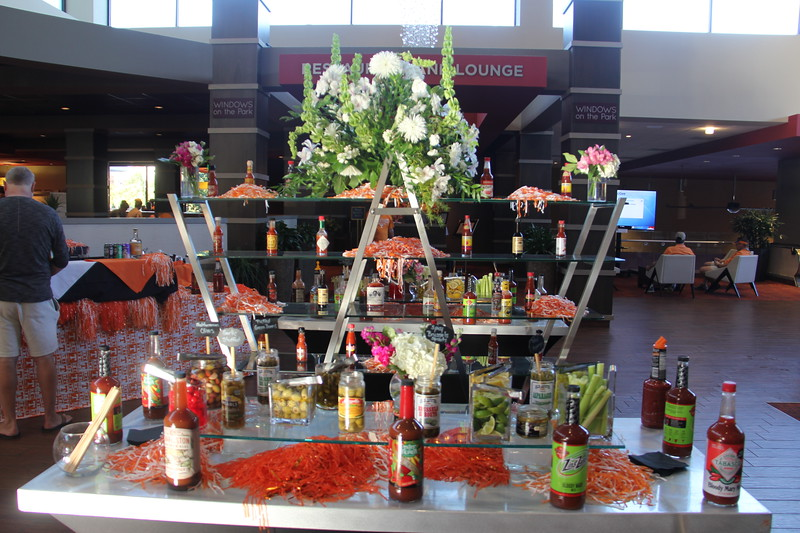 Bloody Mary Bar in the hotel on game day