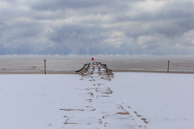 Snow in Galveston 2021