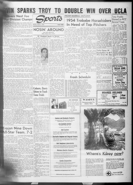 Daily Trojan, Vol. 45, No. 83, March 01, 1954