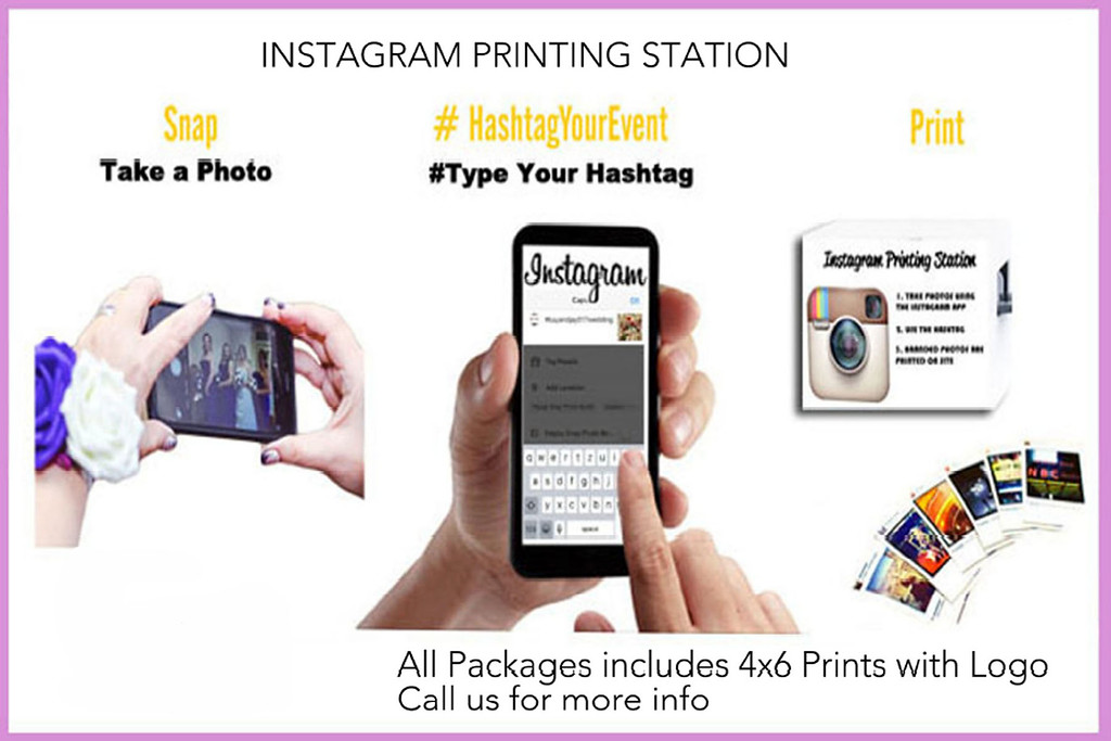 Instagram Printing Station  with 4x6 Print