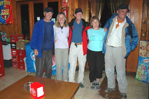 Celebrating in El Sueño bar Polop