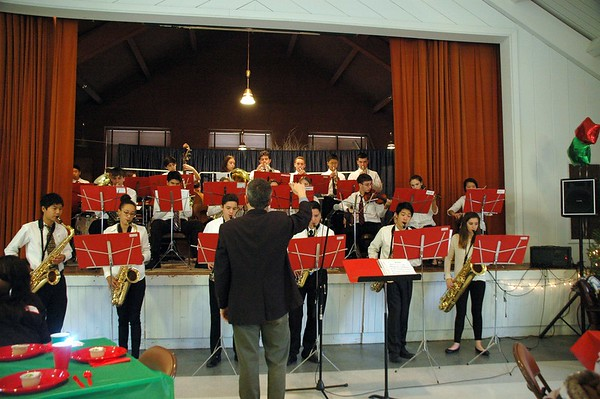 Upper School Jazz Band Performing at St. Thomas