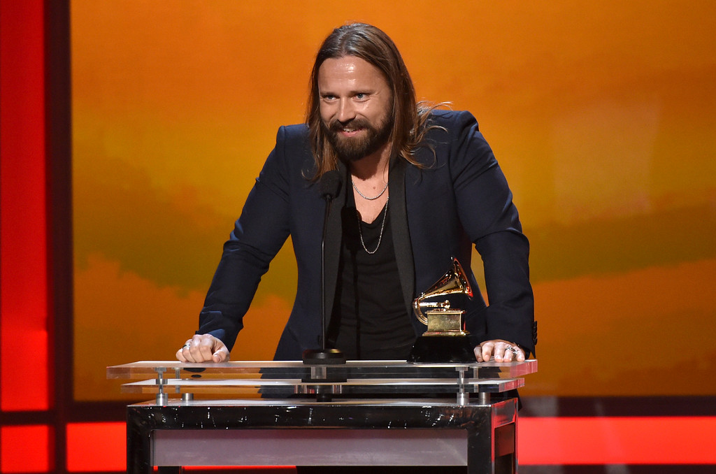 . Max Martin accepts the award for best producer of the year, non-classical at the 57th annual Grammy Awards on Sunday, Feb. 8, 2015, in Los Angeles. (Photo by John Shearer/Invision/AP)