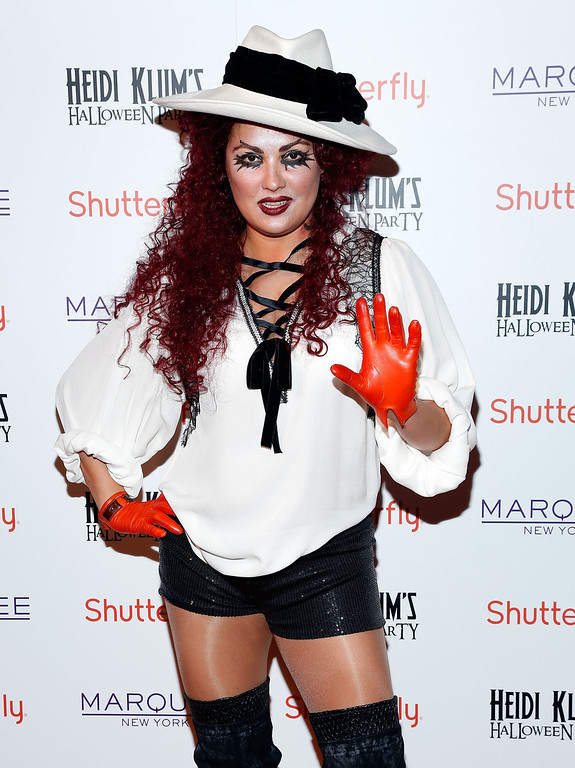 . Opera Singer Anna Netrebko attends Shutterfly Presents Heidi Klum\'s 14th Annual Halloween Party sponsored by SVEDKA Vodka and smartwater at Marquee on October 31, 2013 in New York City.  (Photo by Cindy Ord/Getty Images for Heidi Klum)