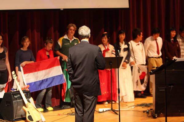 CHCA 2008 HS Chapel - International Flag 10-08