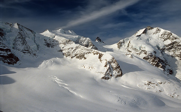 Ski touring on the Alps