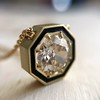 1.36ct Old European Cut Diamond, in JbyG Hex and Enamel Pendant Setting 4