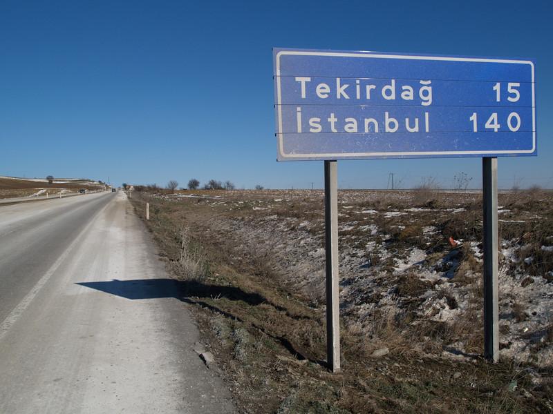 von Kesan nach Ereglisi, Türkei (Turkey), Wthur-Istanbul by bicycle / © Rob Tani, Febr. 2008