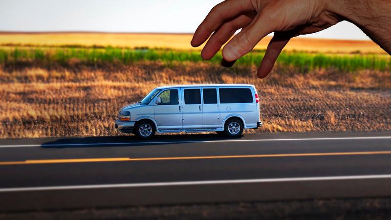 toy van with hand