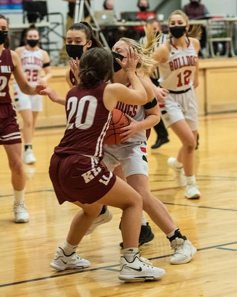 2021 Girls Varsity Basketball:  Hall-Dale vs Kents Hill