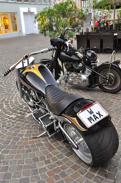 European Harley Week. One of many impressive bikes in Villach