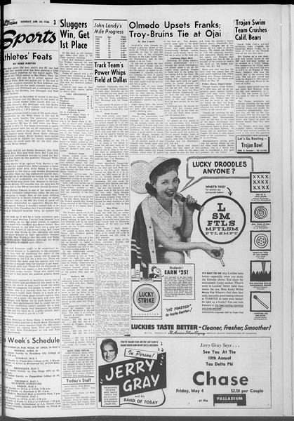 Daily Trojan, Vol. 47, No. 123, April 30, 1956