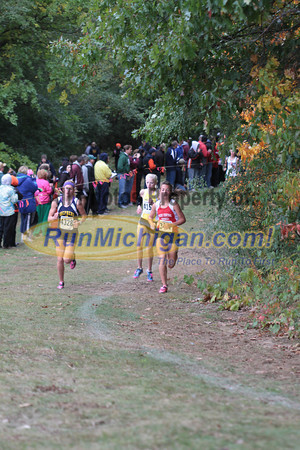 Girls Division 3 at 1 Mile & 1.5 Mile Marks - 2012 Portage Invite