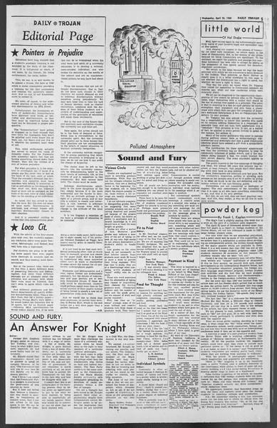 Daily Trojan, Vol. 54, No. 104, April 24, 1963