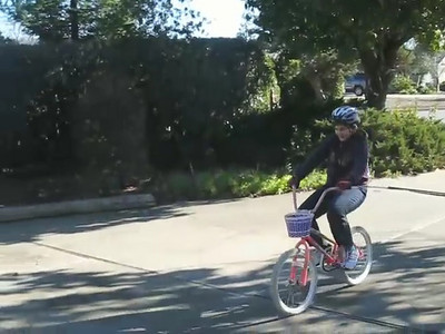Anna Learns to Ride a Bike Today -- Videos and Stills