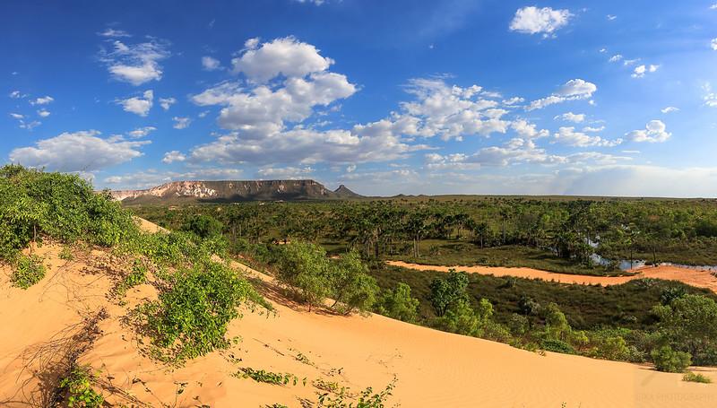 View of Serra do Espírito Santo from Jalapão Dunes, Jalapão, Tocantins - Brasil