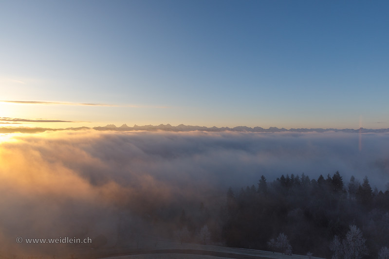 Winter Morning on Top of the Lueg