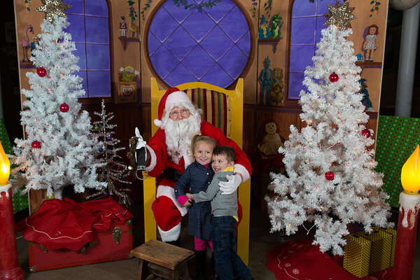 Santa at DESIGNStreet Plainwell Michigan