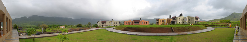 Panoramic view of Chinmaya Vibhooti site.