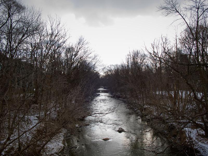 Winter Sky Over Mimico Creek