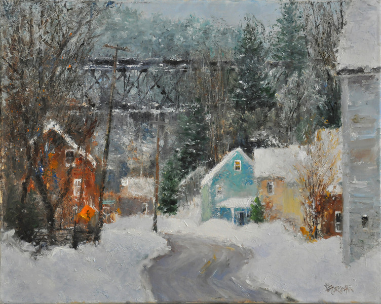 Vermont's Winter (Ludlow, VT) Oil on Canvas 16X20 Awards:  Speical Recognition ;Beaux-Arts RE'ALISTE, Canada