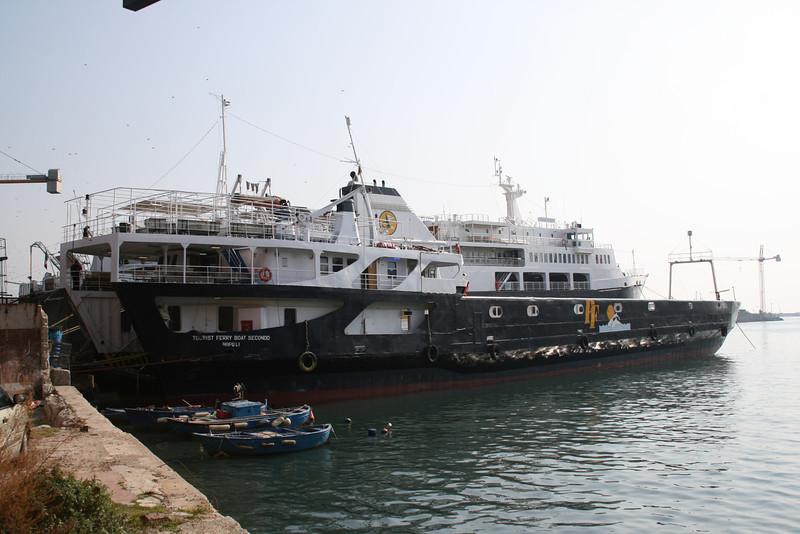 2008 - TOURIST FERRY BOAT SECONDO in dry dock in Napoli.