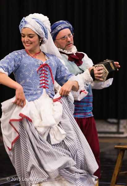 Soprano Sophie Junker and cast in Opera Lafayette's production of Grétry's L'Épreuve Villageoise