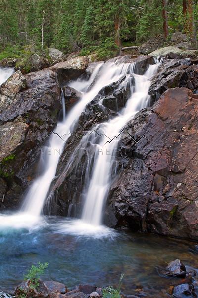 Long exposure photo of East Lake Creek, CO waterfall